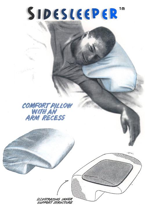 Comfort Pillow With Arm Recess